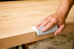 Sanding wood Stock Photography