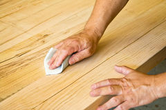 Sanding wood Royalty Free Stock Images