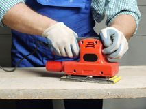 Sanding work Stock Photography