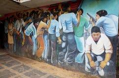 Sandinista壁画 库存图片