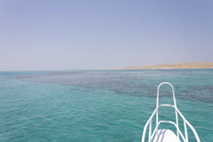 Sandinsel vor einer Lieferung stockfotografie