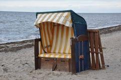 Sandkasten auf dem Nordseeufer Lizenzfreie Stockfotos