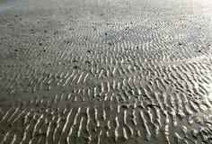 Sandkräuselungen auf dem Strand Lizenzfreie Stockbilder