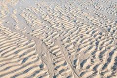 Sandkräuselungen auf dem Strand Stockfotografie