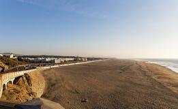 Sandkust och hav i San Francisco Royaltyfria Foton