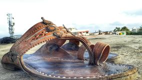 Sandle di Kolhapuri Fotografia Stock
