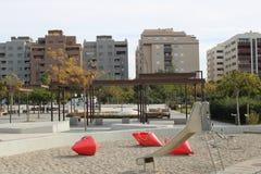 Sandlekplats för barn arkivbild