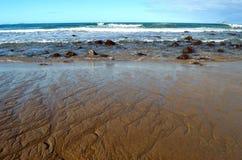 Sandlines at Hot Water Beach Stock Image