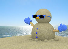 Sandman On The Beach - 3D Royalty Free Stock Photography