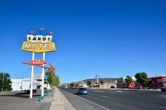 Sandmotell och tecken historiska Route 66 Royaltyfria Foton