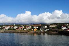 Sandnessjoen, Norway. Sandnessjøen is a town and the administrative centre of the municipality of Alstahaug in Nordland county, Norway. Sandnessjøen was Stock Image
