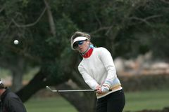 Sandolo, Ladies European Tour, Castelllon, 2006. Sophie Sandolo, European Tour Golf, Castelllon, spain, 2006, practice hit Stock Image