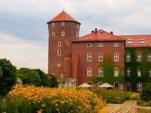 Sandomierska torn på den Wawel slotten i Krakow Arkivfoto