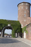 Sandomierska Tower and entrance to the Wawel Royal Castle in Cra Stock Photography