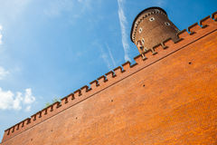 Sandomierska tower at Royal Wawel Castle as a part of most important historical complex in Krakow, Poland Stock Photography