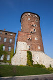 Sandomierska Tower at Wawel Castle in Krakow Royalty Free Stock Image