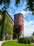 Sandomierska Tower at Wawel castle, Krakow, Poland. Part of royal castle fortification Stock Images