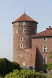 Sandomierska Tower on Wawel Royal Castle , Cracow, Poland Stock Images