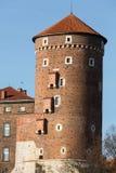 Sandomierska Tower at the Wawel Royal Castle in Krakow, Royalty Free Stock Photo