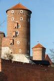 Sandomierska Tower at the Wawel Royal Castle in Krakow, Royalty Free Stock Photos