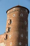 Sandomierska Tower at the Wawel Royal Castle in Krakow, Stock Photo