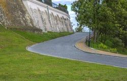 sandomierz abaixo da área do castelo, foto de stock