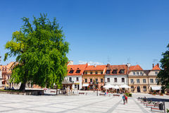 Sandomierz, alte Stadt Stockbild