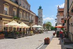 Sandomierz, alte Stadt Stockfotos