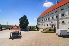 Sandomierz bekannt für seine alte Stadt, die eine bedeutende Touristenattraktion ist 23. MAI 2014 Sandomierz, Stockbild