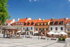 Sandomierz bekannt für seine alte Stadt, die eine bedeutende Touristenattraktion ist 23. MAI 2014 Sandomierz, Stockbilder