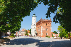 Sandomierz bekannt für seine alte Stadt, die eine bedeutende Touristenattraktion ist 23. MAI 2014 Sandomierz, Lizenzfreie Stockfotos