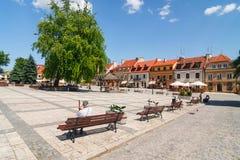 Sandomierz, cidade velha Foto de Stock