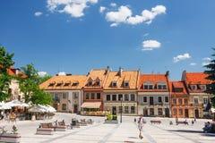 Sandomierz, Città Vecchia Fotografia Stock