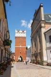 Sandomierz, Città Vecchia Fotografie Stock Libere da Diritti