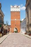 Sandomierz, Città Vecchia Fotografia Stock Libera da Diritti