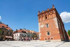 Sandomierz, ciudad vieja Fotos de archivo