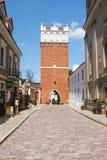 Sandomierz, ciudad vieja Foto de archivo libre de regalías