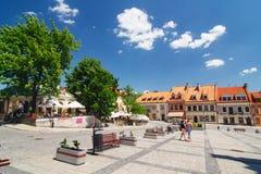 Sandomierz, ciudad vieja Fotografía de archivo libre de regalías
