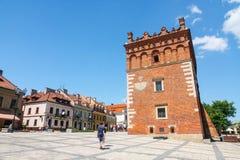Sandomierz, ciudad vieja Fotografía de archivo
