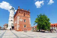 Sandomierz, ciudad vieja Imágenes de archivo libres de regalías