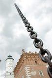 Sandomierz en cadenas imagenes de archivo