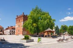 Sandomierz est connu pour sa vieille ville, qui est une attraction touristique importante 23 MAI 2014 Sandomierz, Photographie stock libre de droits