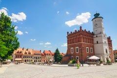 Sandomierz est connu pour sa vieille ville, qui est une attraction touristique importante 23 MAI 2014 Sandomierz, Images libres de droits