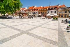 Sandomierz is gekend voor zijn Oude Stad, die een belangrijke toeristische attractie is 23 MEI, 2014 Sandomierz, Stock Fotografie