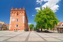 Sandomierz is gekend voor zijn Oude Stad, die een belangrijke toeristische attractie is 23 MEI, 2014 Sandomierz, Royalty-vrije Stock Foto's