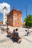 Sandomierz is gekend voor zijn Oude Stad, die een belangrijke toeristische attractie is 23 MEI, 2014 Sandomierz, Royalty-vrije Stock Afbeelding