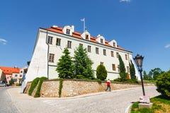 Sandomierz is gekend voor zijn Oude Stad, die een belangrijke toeristische attractie is 23 MEI, 2014 Sandomierz, Royalty-vrije Stock Foto
