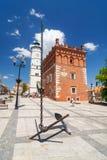 Sandomierz, Oude Stad Stock Foto's