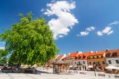 Sandomierz, Oude Stad Stock Afbeeldingen
