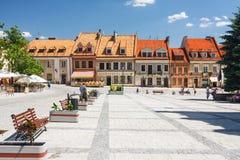 Sandomierz, Oude Stad Royalty-vrije Stock Foto's